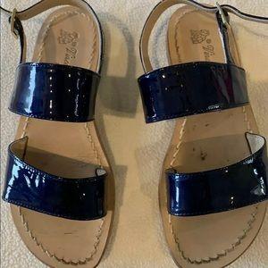 Little girl Vincenzo Ferrara blue sandals size 13